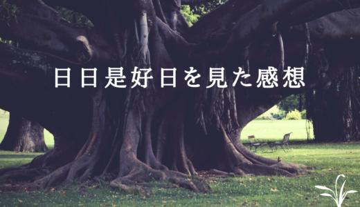 映画「日日是好日(にちにちこれこうじつ)」の感想