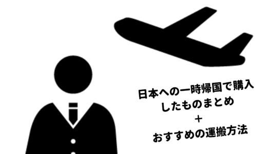 日本への一時帰国で購入したものリストとおすすめの運搬方法