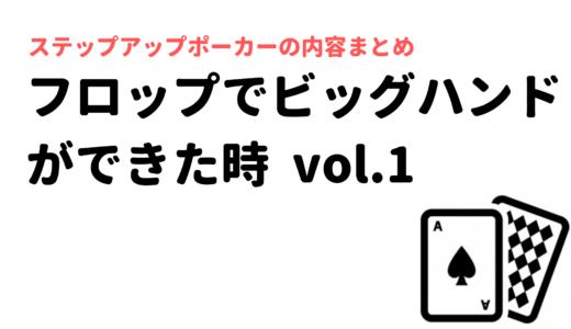 フロップでビッグハンドをヒットさせた時vol.1【ヘッズ、IN、主あり、DRY】